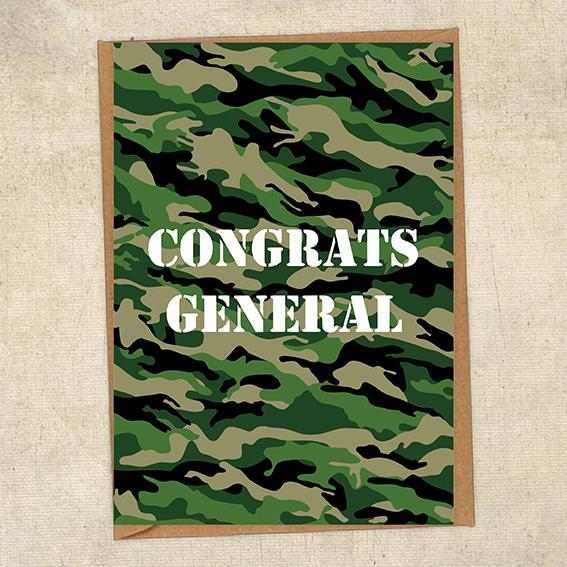 Congrats General Army Congratulations Greetings Card UK Military Card