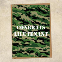 Congrats Lieutenant Army Congratulations Greetings Card UK Military Card