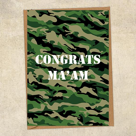 Congrats Ma'am Army Congratulations Greetings Card UK Military Card