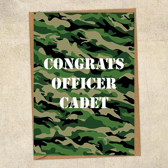 Congrats Officer Cadet Army Congratulations Greetings Card UK Military Card