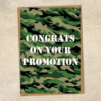 Congrats On Your Promotion Army Congratulations Greetings Card UK Military Card