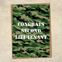 Congrats Second Lieutenant Army Congratulations Greetings Card UK Military Card