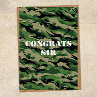 Congrats Sir Army Congratulations Greetings Card UK Military Card