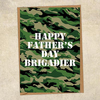 Happy Father's Day Brigadier Father's Day Card Military Card