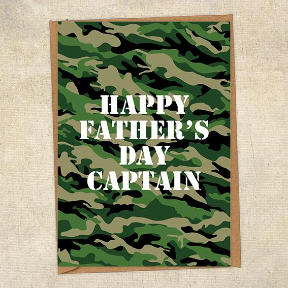 Happy Father's Day Captain Father's Day Card Military Card