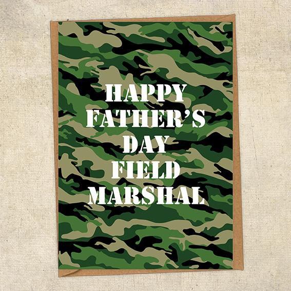 Happy Father's Day Field Marshal Father's Day Card Military Card