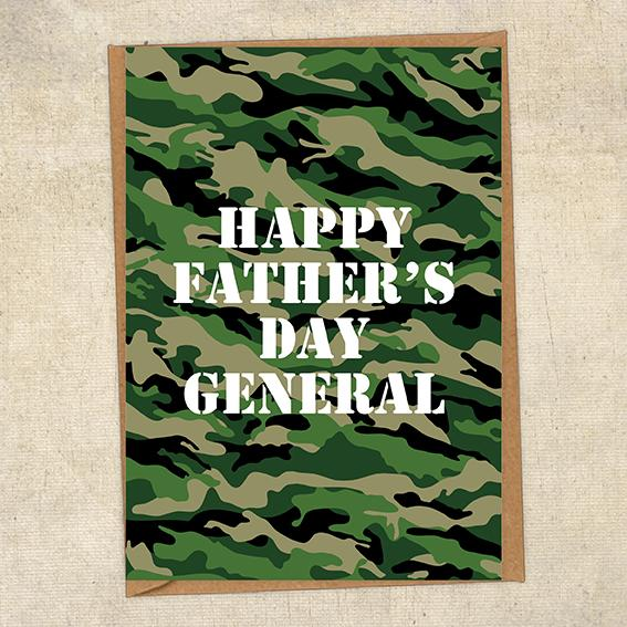 Happy Father's Day General  Father's Day Card Military Card