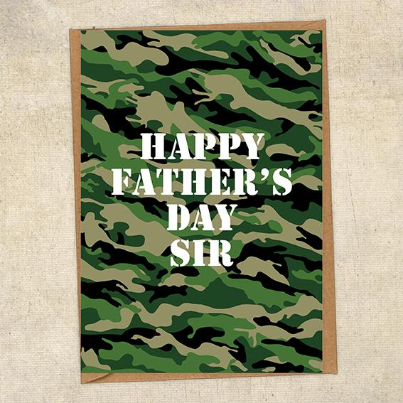Happy Father's Day Sir Father's Day Card Military Card