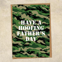 Have A Hoofing Father's Day Father's Day Card Military Card