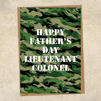 Happy Father's Day Lieutenant Colonel Father's Day Card Military Card
