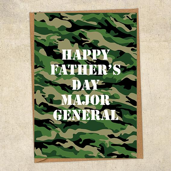 Happy Father's Day Major General Father's Day Card Military Card