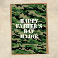 Happy Father's Day Major Father's Day Card Military Card