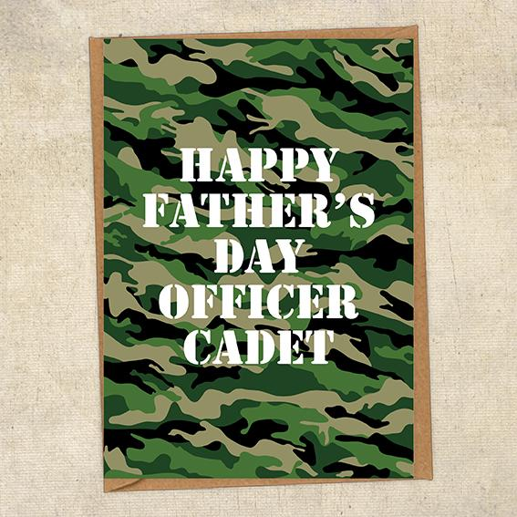 Happy Father's Day Officer Cadet Father's Day Card Military Card