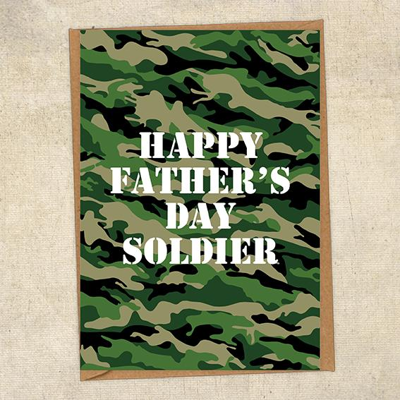 Happy Father's Day Soldier Father's Day Card Military Card