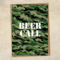 Beer Call Army Greetings Card UK Military Card
