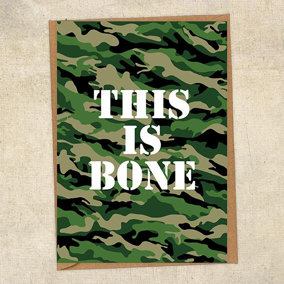This Is Bone Army Greetings Card UK Military Card