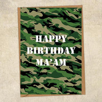 Happy Birthday Ma'am Army Birthday Card UK Military Card
