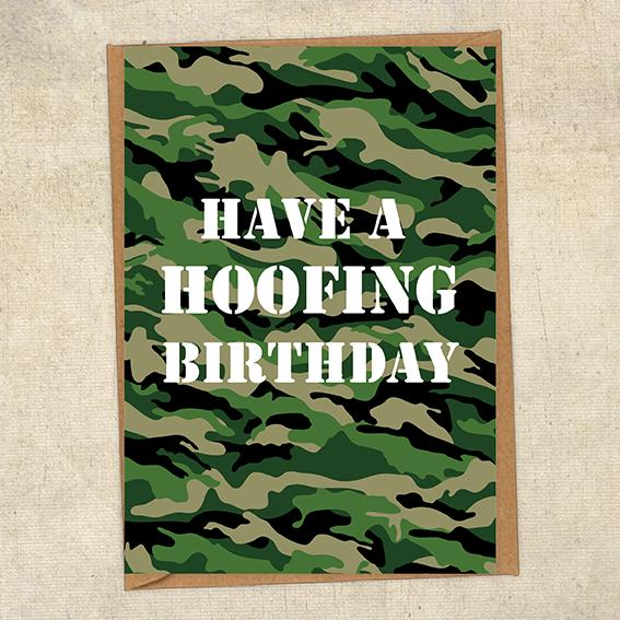 Have A Hoofing Birthday Army Birthday Card UK Military Card
