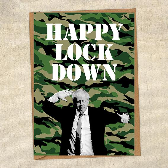 Happy Lockdown Boris Johnson Army Birthday Card UK Military Card