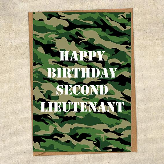 Happy Birthday Second Lieutenant General Army Birthday Card UK Military Card