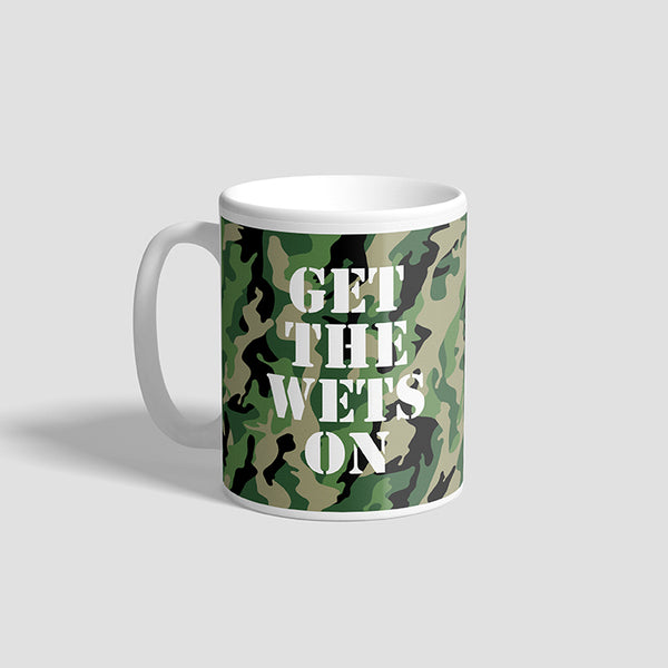 Get The Wets On Army Ceramic Military Mug