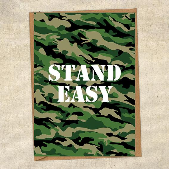Stand Easy Army Sympathy Greetings Card UK Military Card