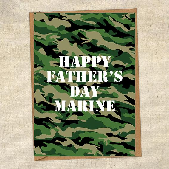 Happy Father's Day Marine Father's Day Card Military Card