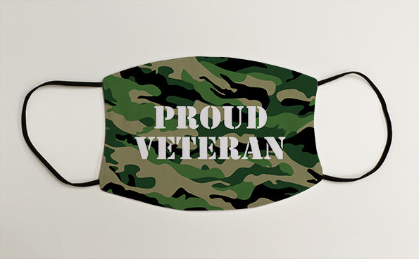 Proud Veteran Army Marines Military Face Mask Covering