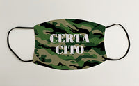 Certa Cito Army Military Face Mask Covering