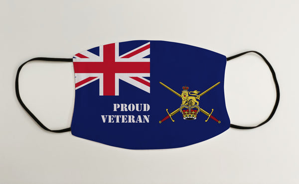 Proud Veteran Army Ensign Military Face Mask Covering