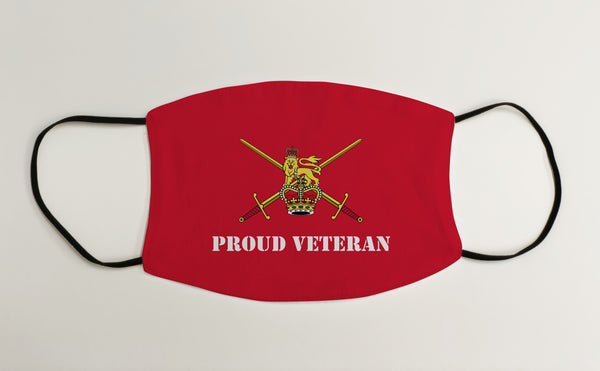 Proud Veteran Red Army Ensign Military Face Mask Covering