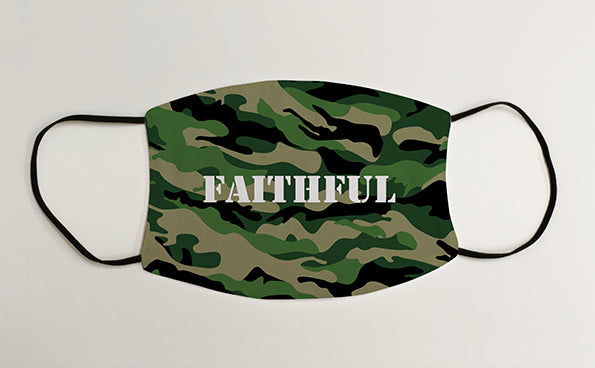 Faithful Army Military Face Mask Covering