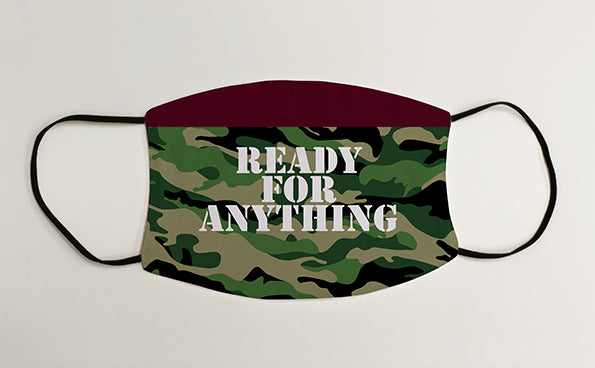 Ready for Anything Paratroopers Army Military Face Mask Covering