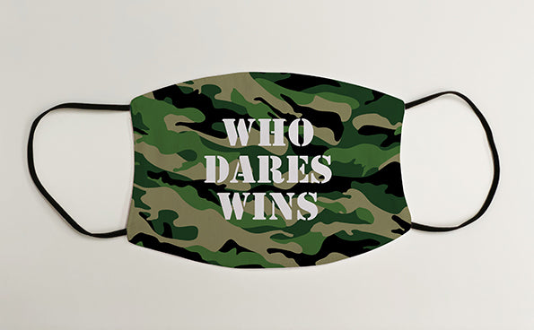 Who Dares Wins Marines Army Military Face Mask Covering