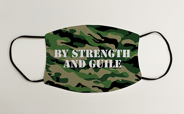By Strength and Guile Army Military Face Mask Covering