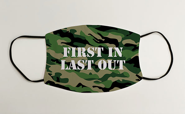 First In Last Out Army Military Face Mask Covering
