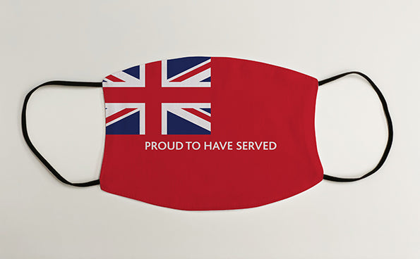 Merchant Navy Proud To Have Served Ensign Military Face Mask Covering
