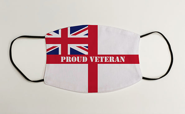 Proud Veteran Navy Ensign Military Face Mask Covering