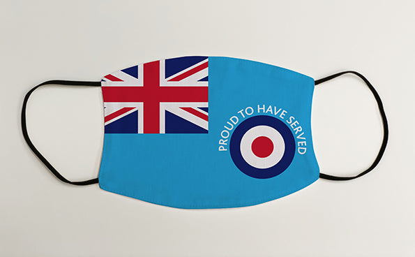 Proud To Have Served Veteran RAF Ensign Military Face Mask Covering