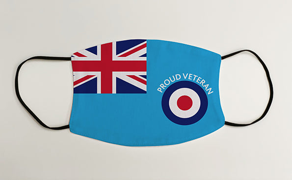 Proud Veteran RAF Ensign Military Face Mask Covering