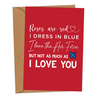 I Love The Air Force UK Military Valentine's Card