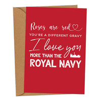 I Love You More Than The Royal Navy UK Military Valentine's Card