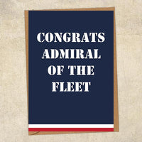 Congrats Admiral Of The Fleet Navy Congratulations Greetings Card UK Military Card
