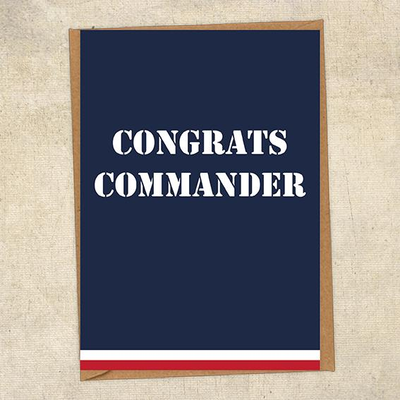 Congrats Commander Navy Congratulations Greetings Card UK Military Card