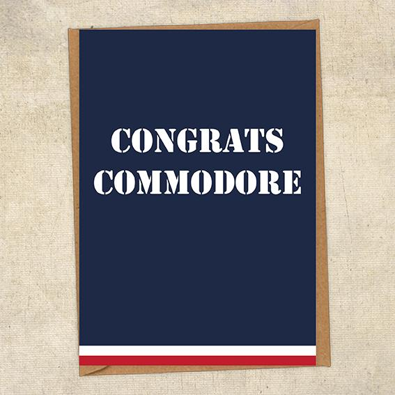 Congrats Commodore Navy Congratulations Greetings Card UK Military Card