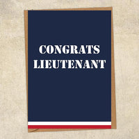 Congrats Lieutenant Navy Congratulations Greetings Card UK Military Card