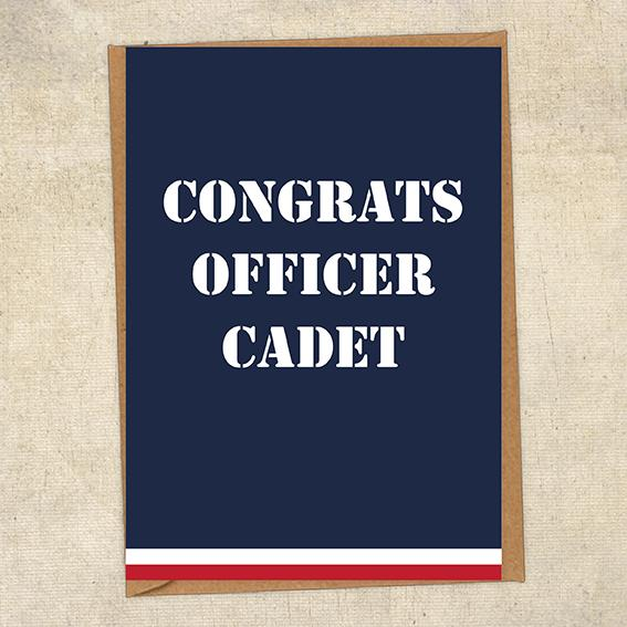 Congrats Officer Cadet Navy Congratulations Greetings Card UK Military Card