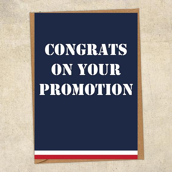 Congrats On Your Promotion Navy Congratulations Greetings Card UK Military Card