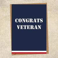 Congrats Veteran  Navy Congratulations Greetings Card UK Military Card