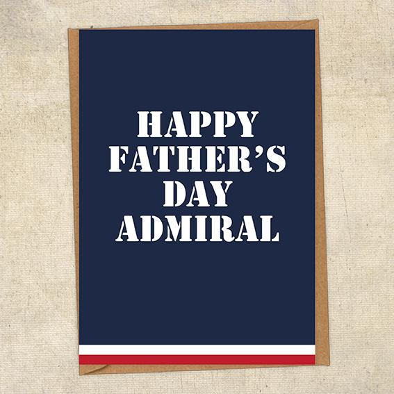 Happy Father's Day Admiral Father's Day Card Military Card